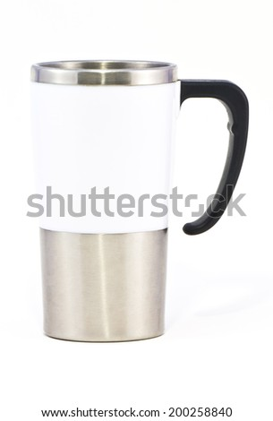 Aluminum mug on white background #200258840