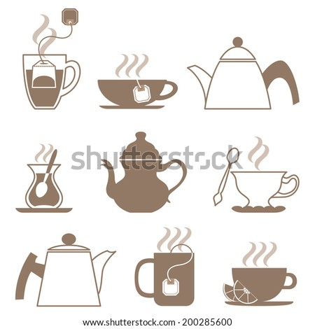 Vector tea icon set