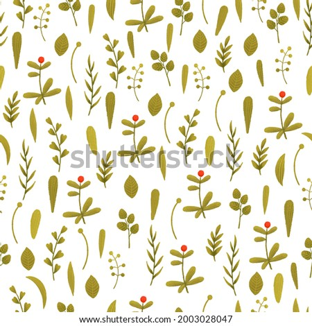 Floral seamless pattern cartoon. Small spring flower. Cute wallpaper leaf. Summer texture pattern