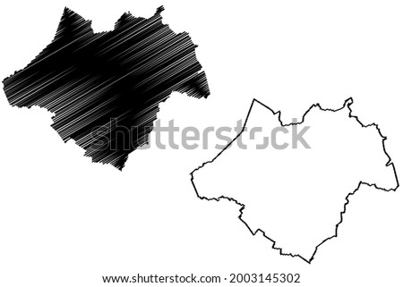 Ammerland district (Federal Republic of Germany, rural district, State of Lower Saxony) map vector illustration, scribble sketch Ammerland map Royalty-Free Stock Photo #2003145302