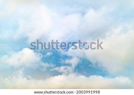 Cumulus rain clouds. Background with storm clouds. Thunderstorm, rain. Picture for weather forecast.