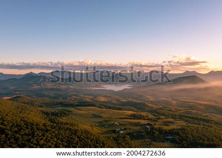 Drone aerial view of Scenic Rim Royalty-Free Stock Photo #2004272636