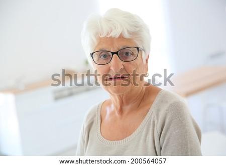 Portrait of elderly woman with eyeglasses #200564057