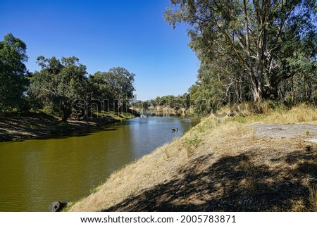The Darling River in outback New South Wales Royalty-Free Stock Photo #2005783871