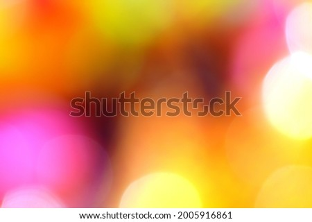 Abstract blurred bokeh background. Multi-colored surface texture  Rainbow color scheme
