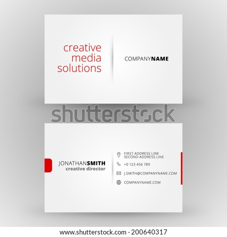 Business card vector background Royalty-Free Stock Photo #200640317