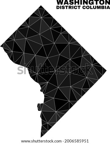lowpoly Washington District Columbia map. Polygonal Washington District Columbia map vector combined from randomized triangles. Royalty-Free Stock Photo #2006585951