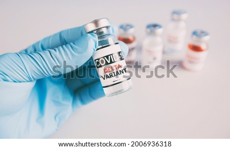 The nurse holding Covid19 delta variant vaccine in hand