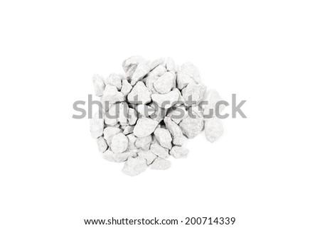 Pale of crushed stone isolated on white background #200714339