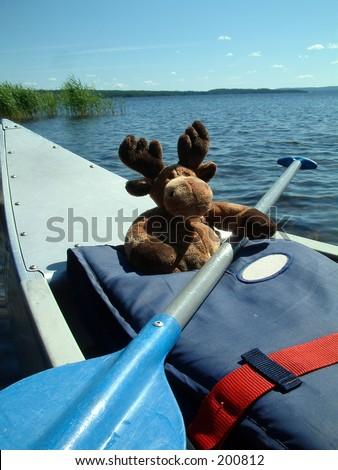 Canoeing moose. #200812