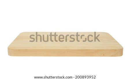 Wooden cutting board isolated on white background #200893952