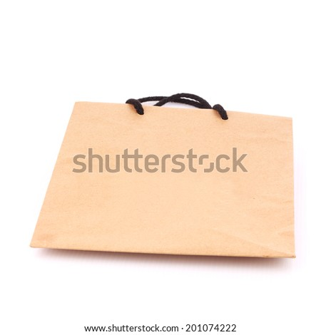 Shopping bag isolate on white #201074222