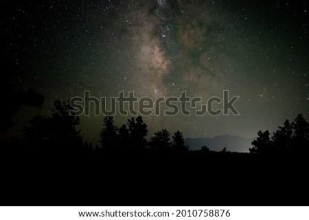 The Milky Way captured over Buena Vista, Colorado Royalty-Free Stock Photo #2010758876