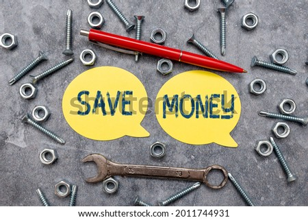 Text caption presenting Save Money. Conceptual photo to budget or put money aside for the future or emergency New Ideas Brainstoming For Maintenance Planning Creative Thinking Pen