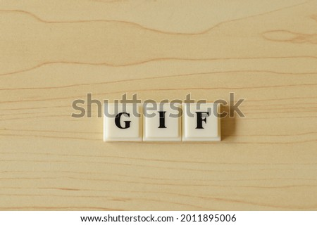 Square letters with text GIF stands for Graphics Interchange Format
