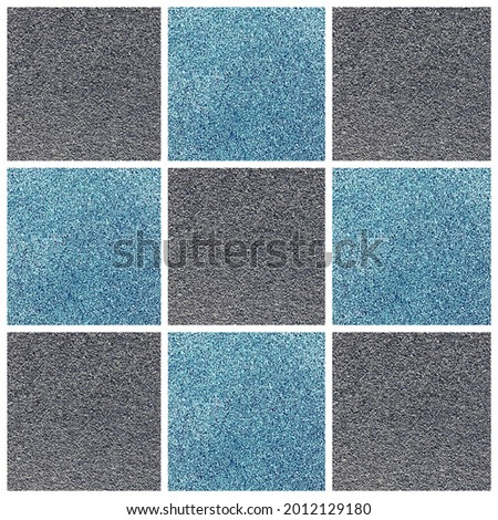 Collage Different Types of Texture New Cover for the running track in different colors