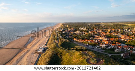 Domburg Coastline, Zeeland, Netherlands during summer Royalty-Free Stock Photo #2012721482