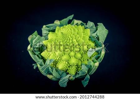 Romanesco the italian green cauliflower Royalty-Free Stock Photo #2012744288