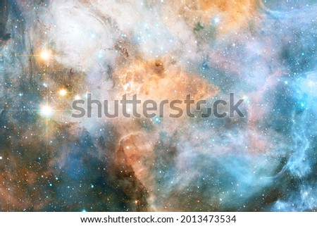 Beautiful galaxy somewhere in deep space. Cosmic wallpaper. Elements of this image furnished by NASA Royalty-Free Stock Photo #2013473534