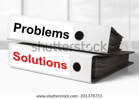 two white office binders problems solutions #201378755