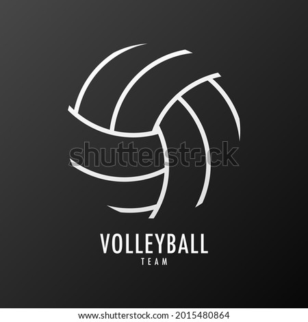 Volleyball icon symbol vector, Line drawing of a volleyball ball , Modern design, isolated on black background, illustration Vector EPS 10, can use for  Volleyball Championship Logo