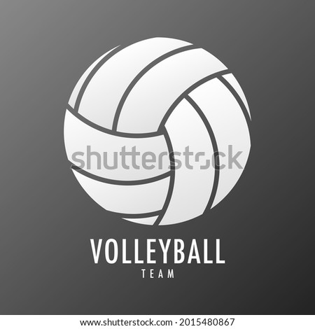 Volleyball icon symbol vector, colors of volleyball is white colors, Modern design, isolated on white background, illustration Vector EPS 10, can use for  Volleyball Championship Logo