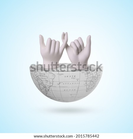 30 July, friendship day, world friendship, international friendship day,11 February, promise day, world promise day, hand promising is on half Earth, international day of non violence, Royalty-Free Stock Photo #2015785442