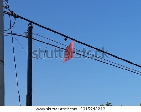kite stuck in cable High Res Stock Images