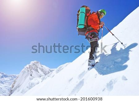 Climber in Himalayan mountain #201600938