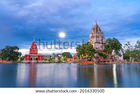 Shyama Mai Temple and Shiv Temple, Darbhanga, Bihar, India Royalty-Free Stock Photo #2016330500