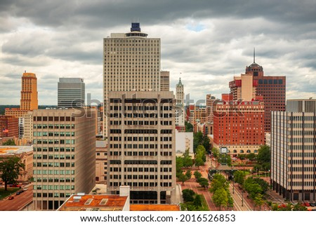 Memphis, Tennessee, USA downtown city skyline. Royalty-Free Stock Photo #2016526853