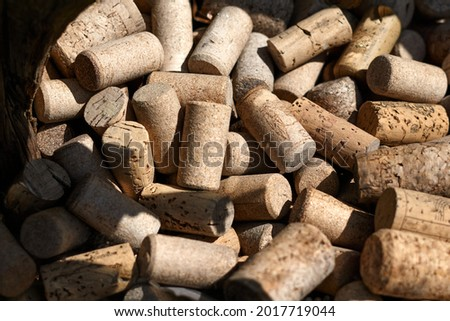 Wine corks, may be used as background. High quality photo Royalty-Free Stock Photo #2017719044