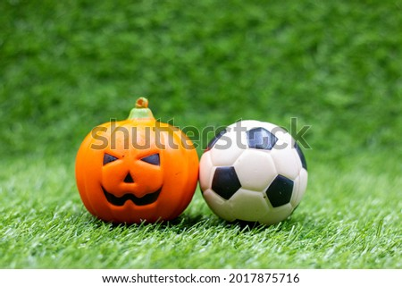 Soccer ball with Ghost for Halloween Holiday