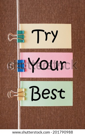 Try Your Best #201790988