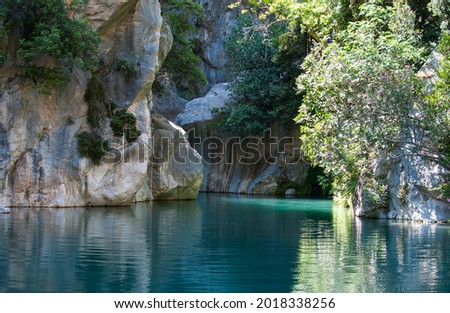 Amazing view of Goynuk canyon, Antalia, Turkey. Landscape photography Royalty-Free Stock Photo #2018338256
