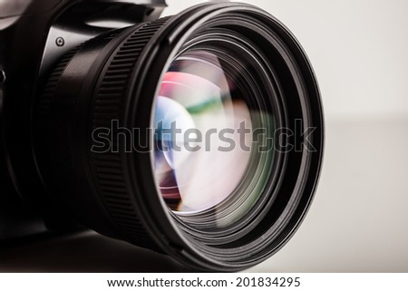 Close-up of a photographic lens #201834295