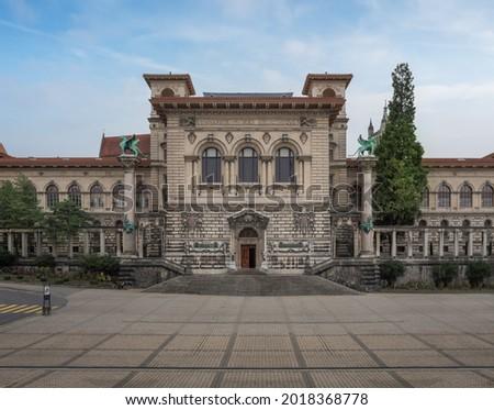 Palais de Rumine at Place de la Riponne - Lausanne, Switzerland Royalty-Free Stock Photo #2018368778