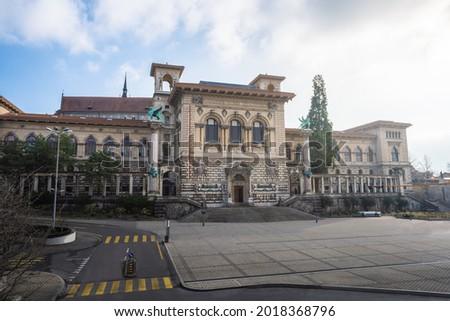 Palais de Rumine at Place de la Riponne - Lausanne, Switzerland Royalty-Free Stock Photo #2018368796