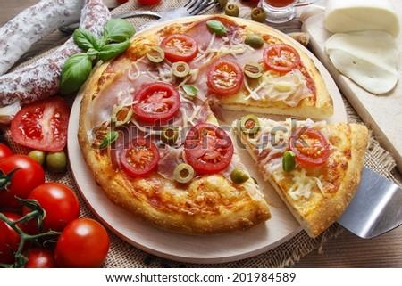 Italian cuisine: pizza #201984589