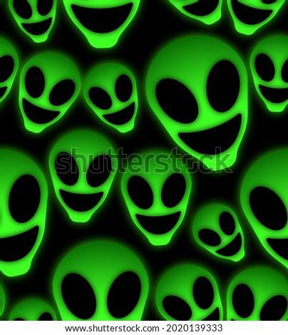 alien neon seamless pattern fashion Royalty-Free Stock Photo #2020139333