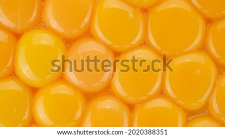 eggs yolks top view. yolks for making dough. Yolk for cooking Royalty-Free Stock Photo #2020388351