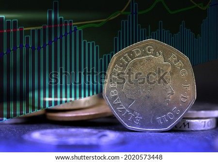 Stock market trading chart. Financial investment concept. Economy trend background for business ideas and all design artwork. High quality photo