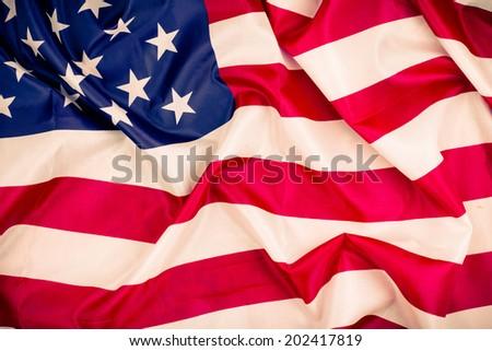 United States of America flag retro style photo #202417819