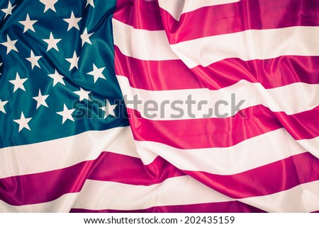USA flag retro style tinted photography for background #202435159