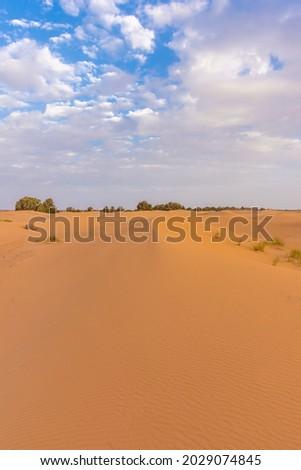 Beautiful landscape of the Sahara Desert, erg Chebbi, Merzouga, morocco Royalty-Free Stock Photo #2029074845