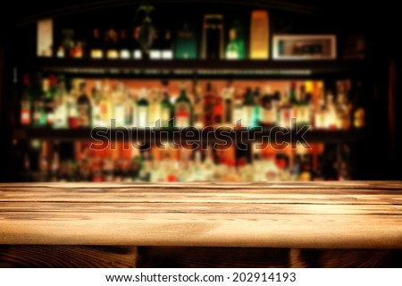 bar and desk  Royalty-Free Stock Photo #202914193