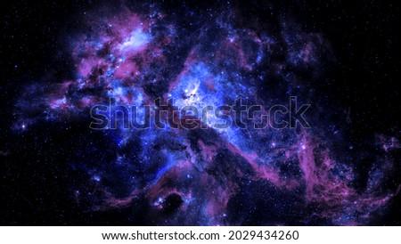 Colorful Nebula Sky background 4K Royalty-Free Stock Photo #2029434260