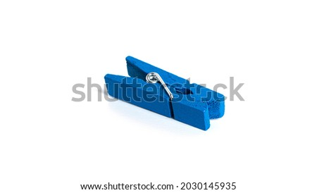 Wooden clothespins isolated on a white background. High quality photo Royalty-Free Stock Photo #2030145935