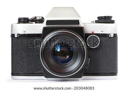 Vintage SLR camera isolated #203048083