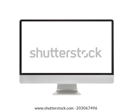 computer screen display isolated on white background #203067496